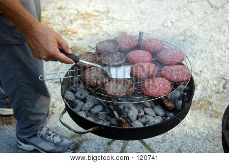 Summer Cookout (Flipping Burgers)
