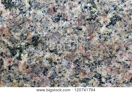 Texture Of The Polished Surface Of Granite, Macro Shot