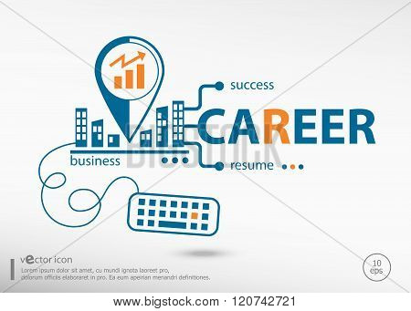 Career And Marketing Concept.