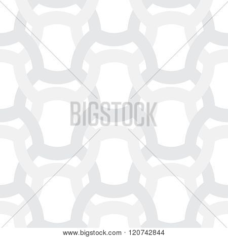 Abstract Simple Geometric Vector Pattern - Entwined Gray Grides On White Background