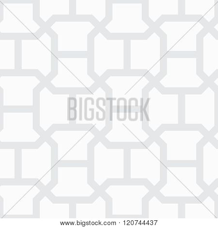 Simple Geometric Vector Pattern - Gray Lines On White Background. Texture Of Floor