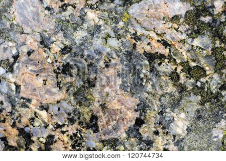 Texture Of The Polished Surface Of Filipstad Granite, Macro Shot
