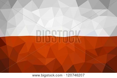 Poland high poly triangulate flag
