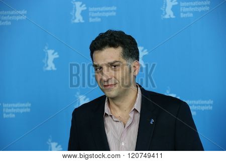 Director Danis Tanovic attends the 'Death in Sarajevo' (Smrt u Sarajevu - Mort a Sarajevo) photo call during the 66th Berlinale Film Festival  at  Hyatt Hotel on February 15, 2016 in Berlin, Germany.