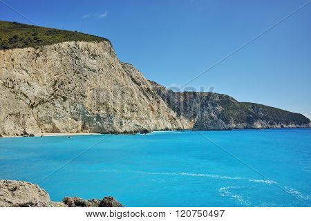 Blue Waters of Porto Katsiki Beach, Lefkada, Greece