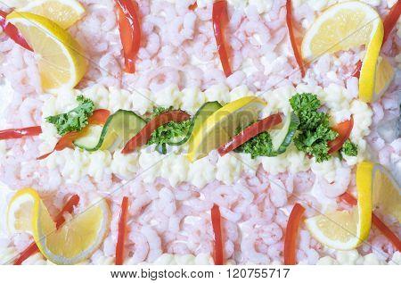 Sandwich layer cake from sweden known as smorgastarta
