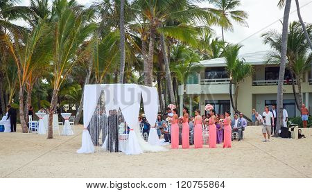 Wedding On The Beach Of Punta Cana Resort