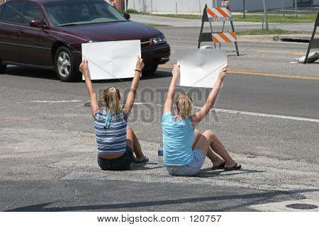 Girls With Signs