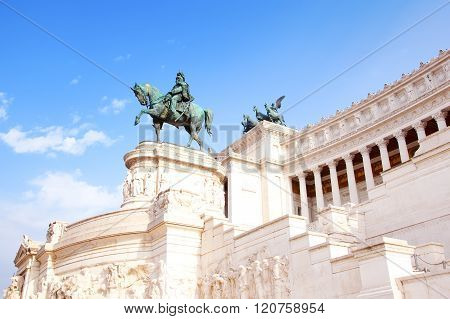 Rome Italy - September 21 2015: National Monument to Victor Emmanuel