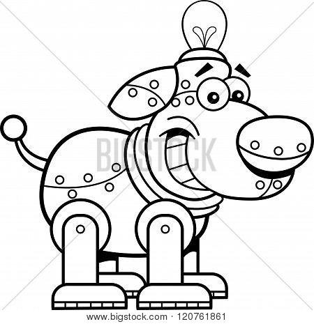 Cartoon mechanical dog.