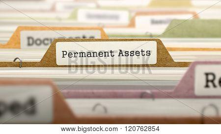 Permanent Assets Concept on Folder Register.
