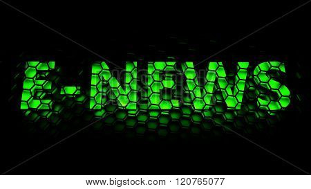 e-news (digital journalism or online journalism) - computer generated image (3D render)