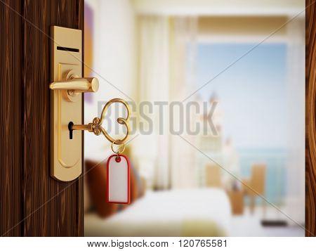Heart Shaped Hotel Room Key