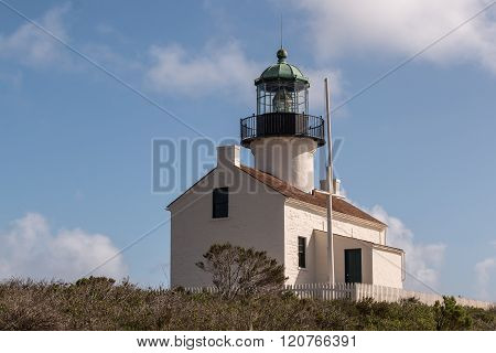 Historic Old Point Loma Lighthouse in San Diego