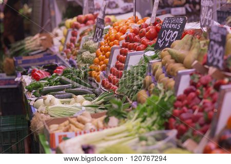 Market Place With Vegetables
