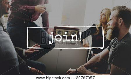 Join Team Recruitment Register Membership Hiring Concept