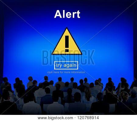 Alert Warning Notification Hack Signal Concept