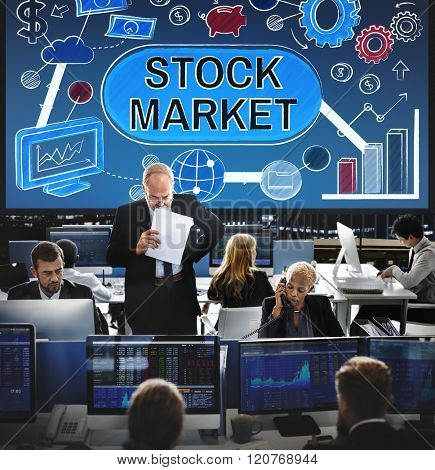 Stock Market Forex Finance Shareholder Exchange Concept