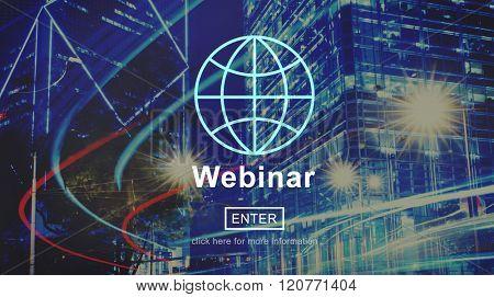 Webinar Webcast Education Knowledge Cloud Concept