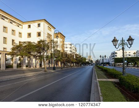 Empty street in Rabat