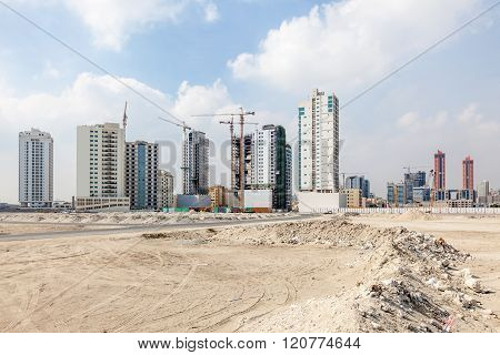 Skyline Of Manama City, Bahrain