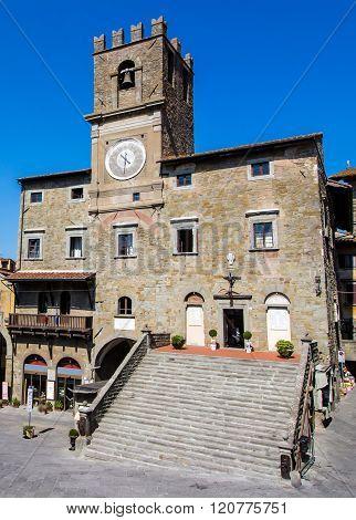 The Town Hall In Cortona, Tuscan , Italy