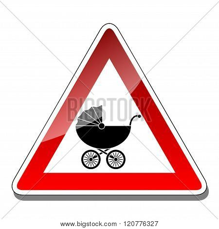 A warning sign baby