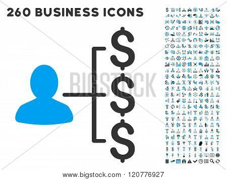 Payer Relations Icon with Flat Vector Set