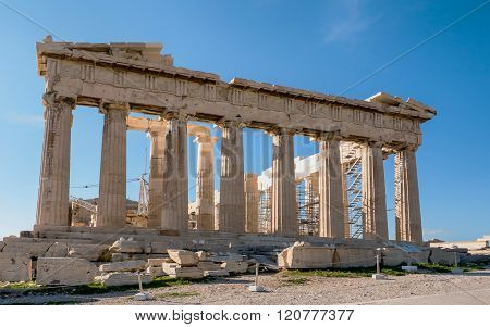 The Parthenon Temple Acropolis Hill