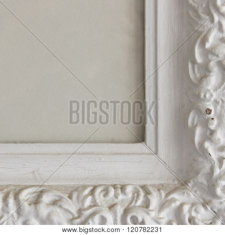 Ornate distressed frame