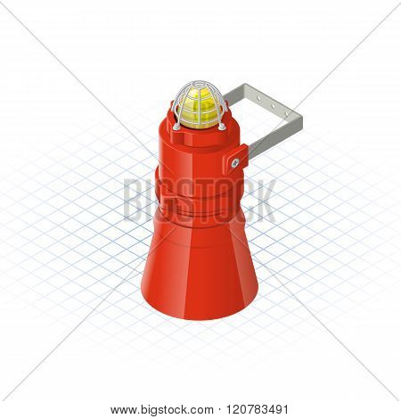 Isometric Beacon With Loudspeaker Alarm Horn Sounder A Safety Equipment Tool
