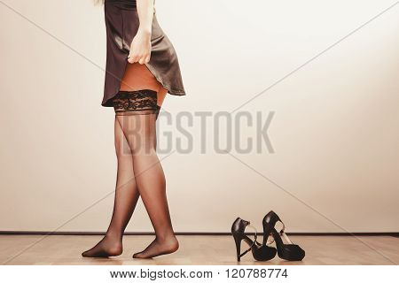 Sexy Woman Legs In Black