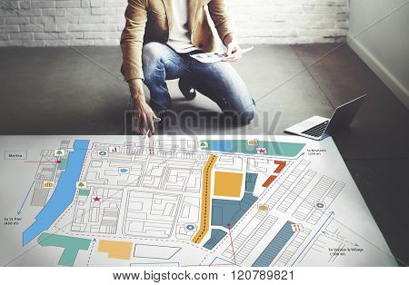 City Urban Blueprint Plan Infrastructure Concept