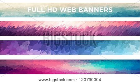 Full HD Web Banners. Vector file.