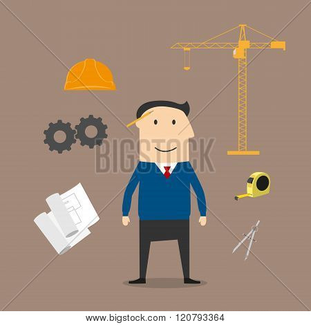 Engineer and construction industry icons