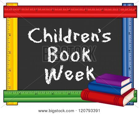 Children's Book Week, Ruler Frame Blackboard