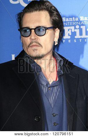 SANTA BARBARA - FEB 4:  Johnny Depp at the 31st Santa Barbara International Film Festival - Maltin Modern Master on February 4, 2016 in Santa Barbara, California