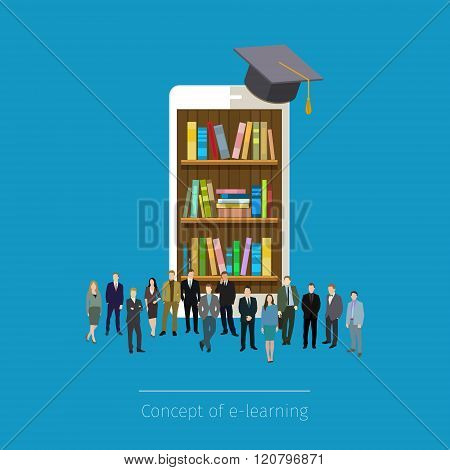 Online mobile library in smartphone.