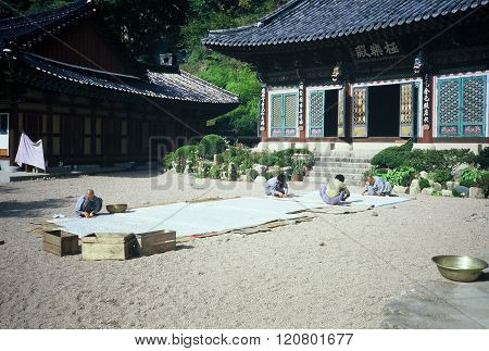 Beopjusa Temple Courtyard