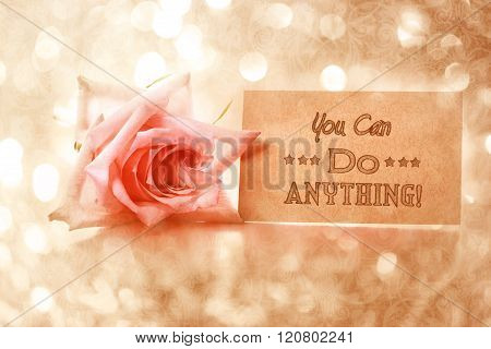 You Can Do Anything! Motivational Message Card