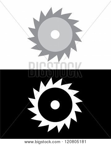 Vector Saw Blade Set in Color and Reverse
