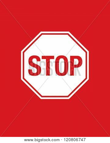 A vector illustration of a stop sign
