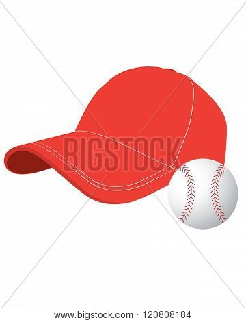 Classic Vector Baseball Cap and Ball Set
