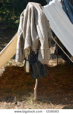 Confederate Jacket And Tent