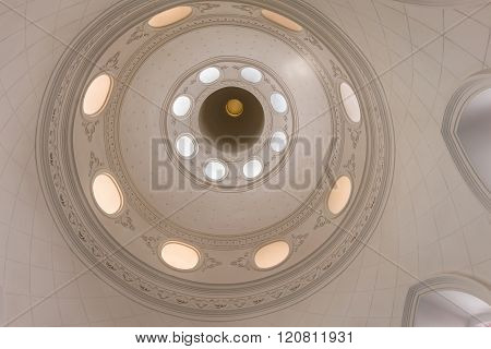 The Ceiling And Cupolas Of Church In Thailand