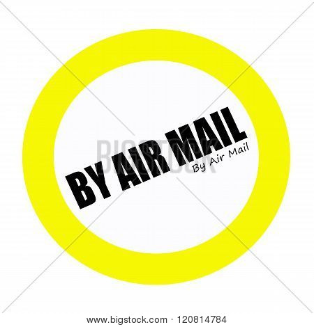 BY AIR MAIL back stamp text on white