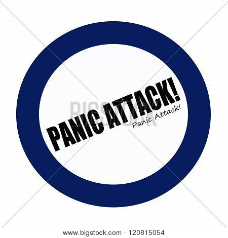 an images of PANIC ATTACK black stamp text on white