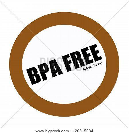 BPA FREE black stamp text on white