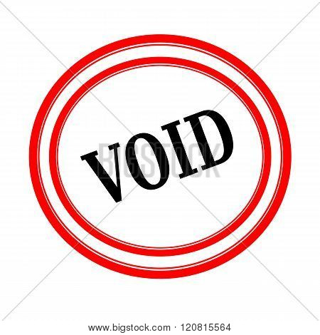VOID black stamp text on white backgroud