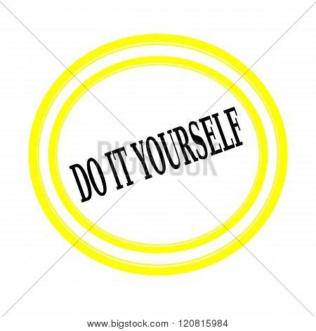 Do it yourself black stamp text on white backgroud